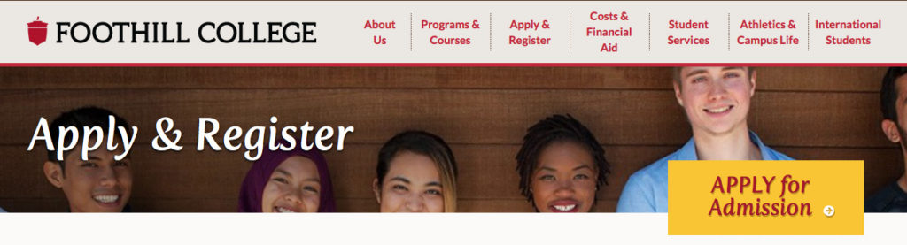 Foothill College Application