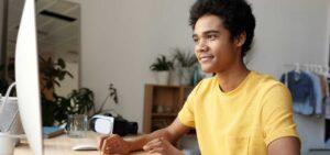 teen boy online learning